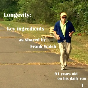 Frank Walsh on his daily jog